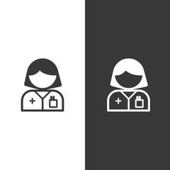 Pharmacist woman. Isolated image. Profession avatar. Pharmacy vector illustration
