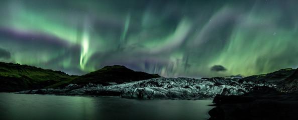 Foto auf Leinwand Olivgrun silheimajokull