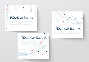 White Christmas Banner Layout Set