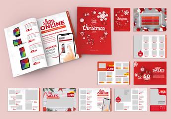 Christmas Style Product Catalog Layout