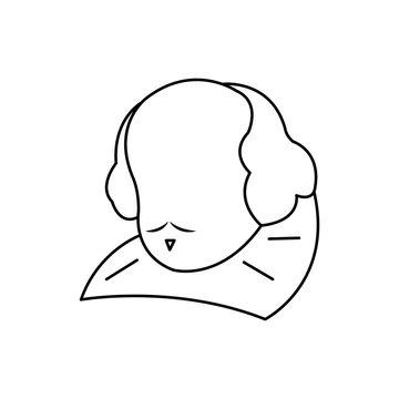 william shakespeare statue isolated icon