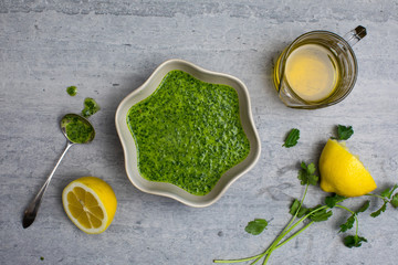 Green vegetable stew preparation