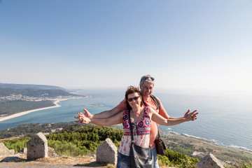 couple on vacation in Galicia, Spain