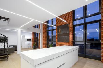 Loft apartment with led lighting