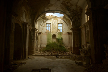 Abandoned church of Craco, Ghost village in Italy Fototapete