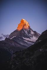 Foto op Plexiglas Ochtendgloren peak of mountain