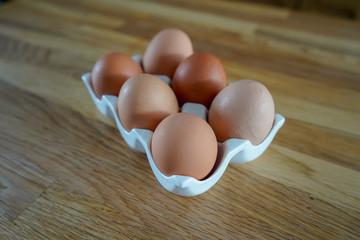 Eggs in a egg holder