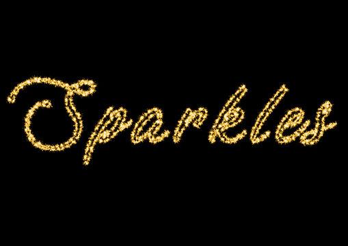 word Sparkels burning sparkler, 3D, ILLUSTRATIOn