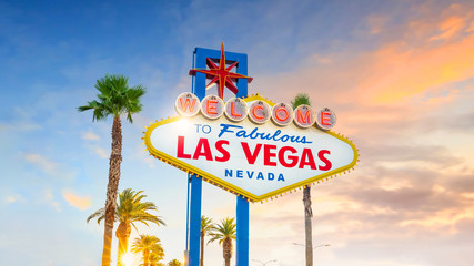 Poster Las Vegas The Welcome to Fabulous Las Vegas sign in Las Vegas, Nevada USA