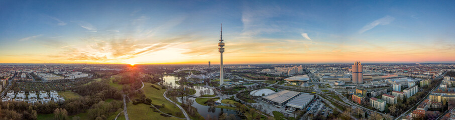 Munich from above - Sunset mood