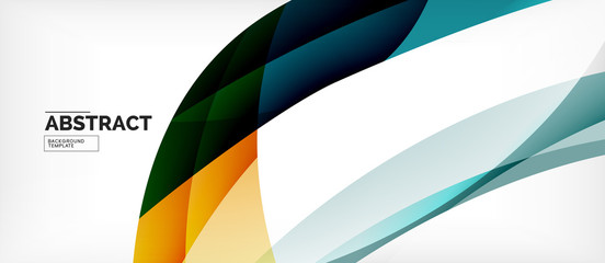 Colorful wave lines abstract background, color line for business or techno presentation