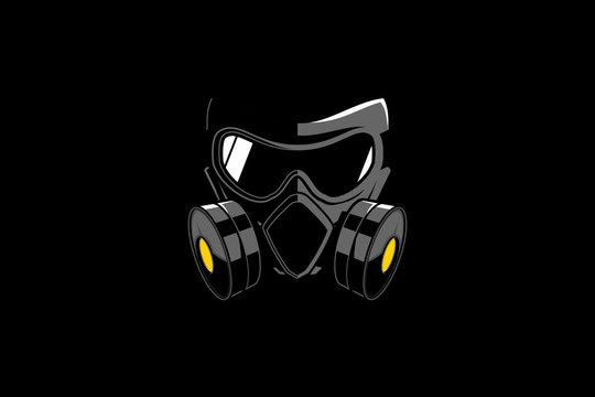 gas mask vector design