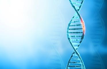 DNA mutations or  genetic disorer concept background. 3d illustration.