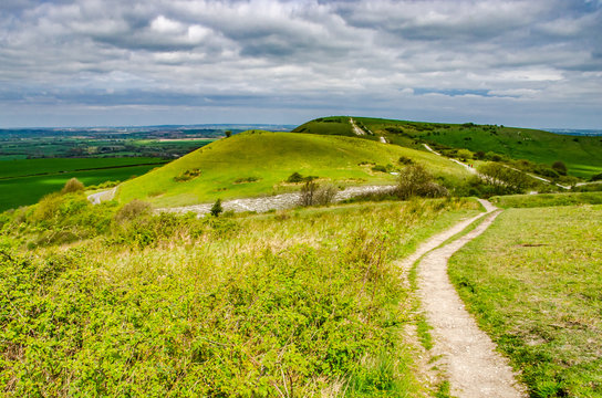Trail to Ivinghoe Beacon Chiltern Hills Buckinghamshire England UK