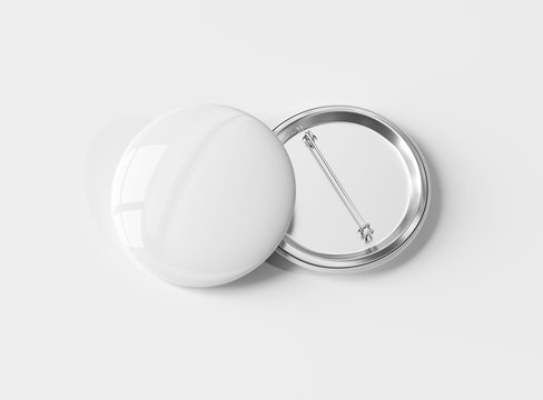 A mockup of two badges on white background 3D rendering
