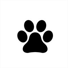 Paw icon in trendy flat style isolated on background. Paw icon page symbol for your web site design Paw icon logo, app, UI. Paw icon Vector illustration, EPS10.