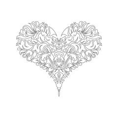 Poker playing card suit Hearts design shape single icon. Hearts suit deck of playing card used for ace in Las Vegas royal casino. Single icon pattern isolated on white. Ornament drawing pic for tattoo