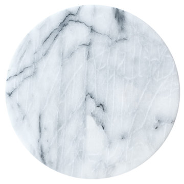 Marble round board isolated