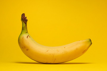 banana fruit on a yellow background