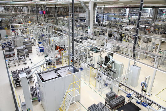 production hall of a car manufacturer