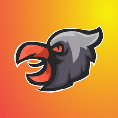 eagle head  esport logo,suitable for  team gaming logo, clothing, and etc.vector esport
