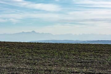 Mountain silhouettes in autumn
