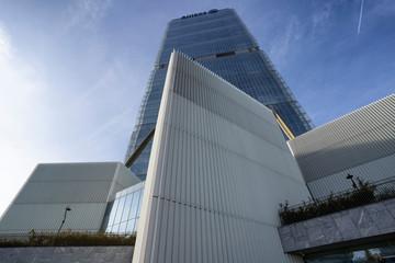 Milan, Italy - October 10, 2019: Isozaki tower at Citylife, Milan