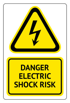Danger electric shock risk, label ready to print