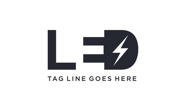 LED light for logo design concept