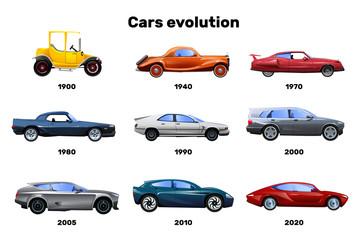 Papiers peints Cartoon voitures Cars Flat Set