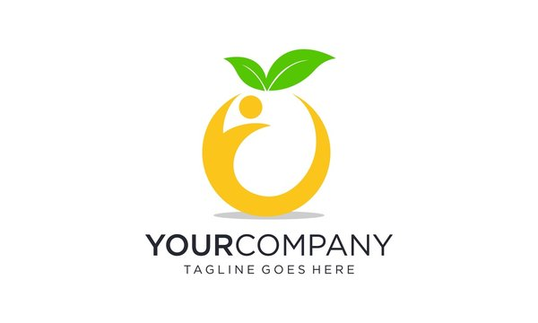Nutrition from fruit for the body logo designs