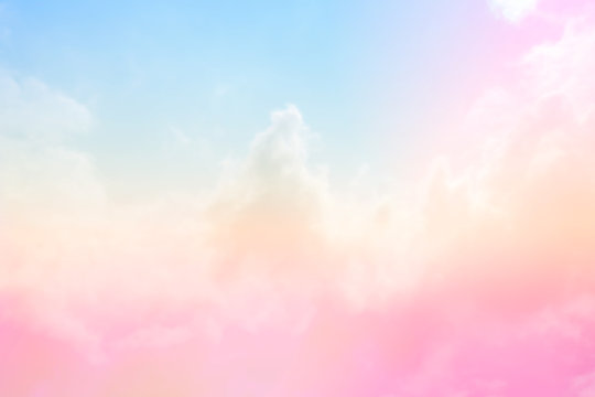 Soft Cloud sky subtle background pastel gradient color for sky cloud nature abstract background .