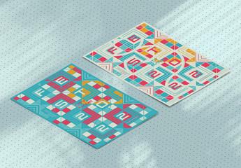 Geometric Square Design Poster Layout