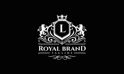 Lion Crest Logo - Royal Lion Brand Vector