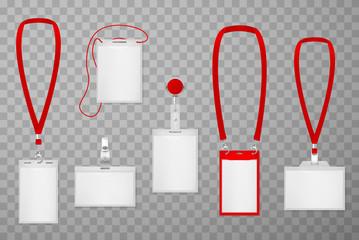 Id plastic cards realistic vector illustrations set