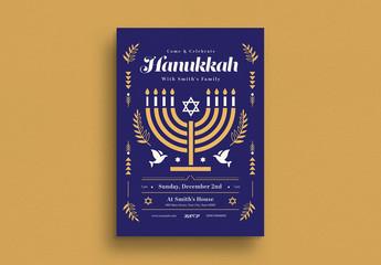 Hanukkah Event Flyer Layout