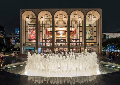 Metropolitan Opera House in New York City at Lincoln Center