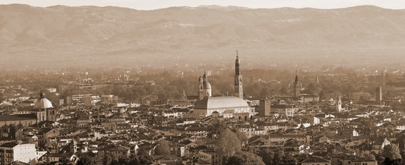 Panoramic view of Vicenza City