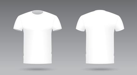 Vector white t-shirt template. T-shirt print visualization