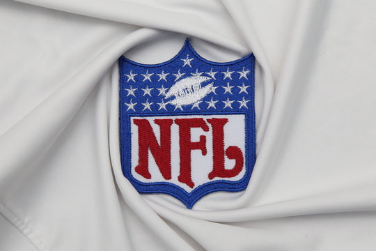 BANGKOK, THAILAND -JUNE 3: The  Logo of  NFL on the textile