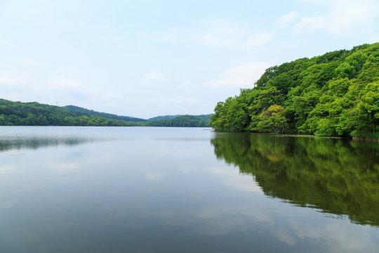 Clear water lake, Hokkaido, Japan