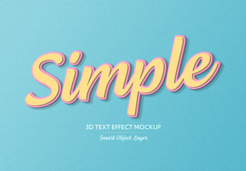 Simple 3D Text Effect with Border