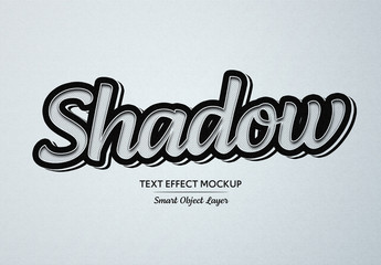 Black Pop Art Shadow Text Effect