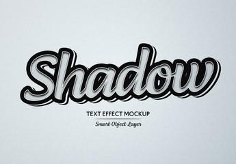 Black Pop Art Shadow Text Effect