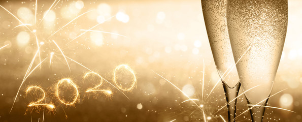 Champagne on new years eve background