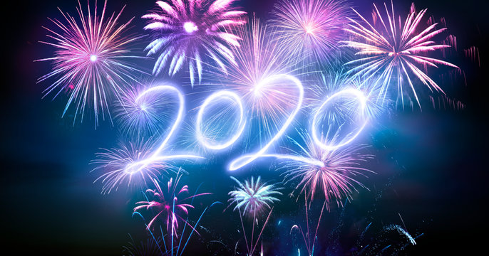 Happy New Years 2020 With Fireworks
