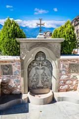 Water Tap In The Monastery of Varlaam - Meteora, Greece