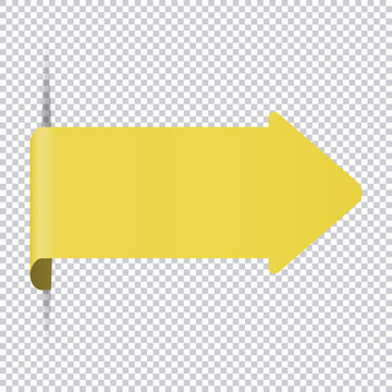 yellow arrow bookmark banner for any text