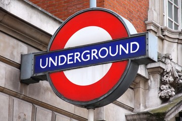 LONDON, UK - MAY 14, 2012: London Underground station entrance in London. London Underground is the 11th busiest metro system worldwide with 1.1 billion annual rides.