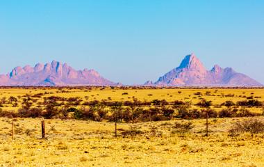 Foto op Canvas Meloen Merveilleux paysage de Spitzkoppe en Namibie